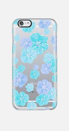 Blue & Purple Flowers iPhone 6 case