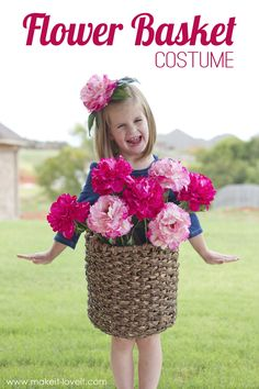 DIY Flower Basket Costume...quick, unique, and fun for all ages! | via MichaelsMakers Make It and Love It