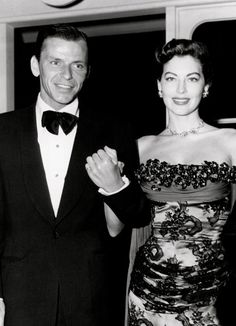 Ava Gardner and Frank Sinatra, photographed together in New York at the premiere of Show Boat,  just a few months before their marriage (photo July 17, 1951)