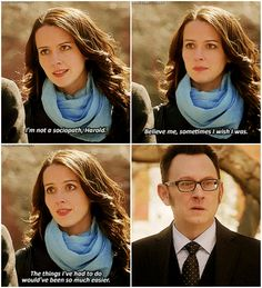 Yeah, I know, Finch, I was feeling more than a little skeptical too.  Person of Interest - Root and Finch