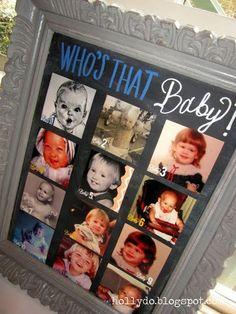 Jeux baby-shower : qui est le bébé ?