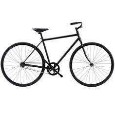 6KU Coaster Brake City Harding Matte Black Single Speed Bike