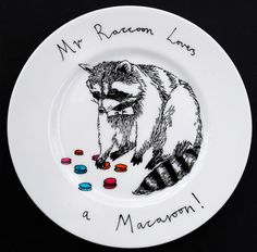 http://www.etsy.com/listing/76938028/hand-painted-side-plate-mr-raccoon-loves