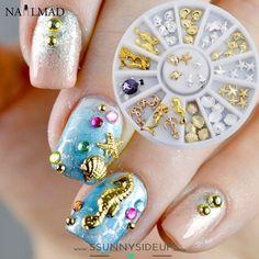 36 pcs Nail Art Decoration in Wheel