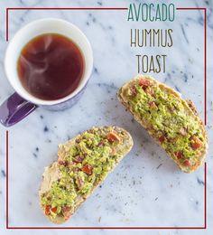 Avocado Hummus Toast | healthynibblesandbits.com