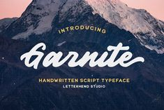 Garnite - Handwritten Script by Letterhend Studio on @creativemarket