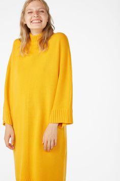 Turtleneck knit dress - Hello pumpkin - Dresses - Monki AT Ribbed Turtleneck, Monki, Knit Dress, Turtle Neck, Knitting, Sleeves, Sweaters, Pumpkin, Clothes