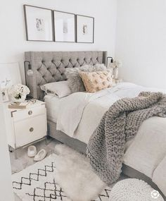 40 Chic Bedroom Decorating Ideas for Teen Girls Teen Room Decor Ideas Bedroom Ch. - 40 Chic Bedroom Decorating Ideas for Teen Girls Teen Room Decor Ideas Bedroom Chic decorating Girls - Farmhouse Bedroom Decor, Farmhouse Furniture, Cozy Bedroom, Dream Bedroom, Home Decor Bedroom, Farmhouse Design, Rustic Farmhouse, Bedroom Ideas Grey, Trendy Bedroom
