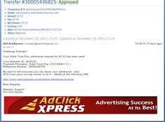 "INCOME JUST BY WATCHING ADS AND POSTING ""I WORK FROM HOME less than 10 minutes and I manage to cover my LOW SALARY INCOME. If you are a PASSIVE INCOME SEEKER, then AdClickXpress (Ad Click Xpress) is the best ONLINE OPPORTUNITY for you  And many more earnings with AdclickXpress like  GET RICH POSTING YOUR PAYOUT PROOFS AND GET REWARDS... For more Details Dial +8642008333To join Click the given link :- http://www.adclickxpress.is/?r=gs3wv27a2pqh&p=mx"