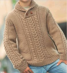 This Pin was discovered by Вир Baby Boy Knitting Patterns, Knitting For Kids, Knit Patterns, Knitting Designs, Baby Sweaters, Cable Knit Sweaters, Mens Knit Sweater, Google, Men's Knits