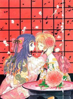 """Tomoyo Daidouji & Sakura from """"Card Captor Sakura"""" series by manga artist group CLAMP."""