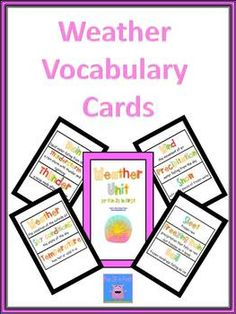 Weather Vocabulary Cards - free