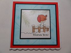 Robin thank you card made by Hannah Brooke with Hobby Art Stamps