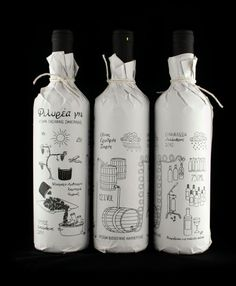 Packaging vino hecho a mano.
