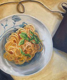 Pasta Forever, by Diana Dzene. Oil on canvas, 60cm x 50cm, made in April 2021. #art #oilpainting #pastaforever #eternity #foodpainting #arte #pittura #peintre #saatchiartist #paintingathome #foodart #artoftheday #paintingoftheday #spaghetti #tuesdaynightpainting Oil On Canvas, Canvas Art, Original Paintings, Original Art, Food Painting, Art Day, Food Art, Buy Art, Saatchi Art
