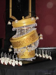 Crashing Chandelier Cake - WOW - by Intricate Icings