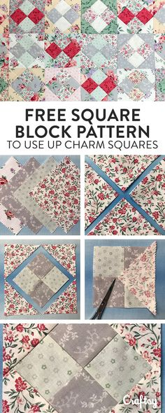 Use Up Any Lingering (Or New) Charm Square Packs With This FREE Quilting Pattern