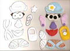 Quiet Book Patterns | Mr. Potato Head Quiet Book