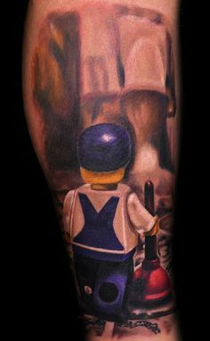 Lego tattoo designs are fairly popular, they cover all areas from movies and video games to popular TV characters. See our favourite top 20 Lego designs! Lego Tattoo, Tattoo Character, Lego For Kids, Lego Design, Realism Tattoo, Popular Pins, Tattoo Designs, Tattoo Ideas, Cool Tattoos