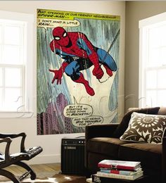 Great for man cave, kid cave or famly fun caves...Retro Marvel Comics Wall Murals | Apartment Therapy
