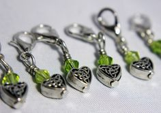 Celtic Love Crochet Stitch Markers by midnightscribbles on Etsy