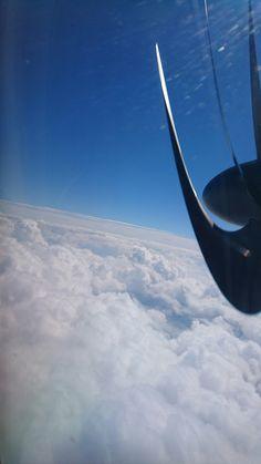 女満別行き Airplane View