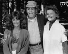 """Jane Fonda - Henry Fonda - Katharine Hepburn in """"On Golden Pond"""" 1981 - PG, 109 min, color - drama.  One of the best movies ever made and a real treasure... Quote (may not be accurate, going on memory here): """"Martha Thayer, sounds like I'm talking with a lisp.  She almost didn't marry because of that..."""" *~<3*Jo*<3~*"""