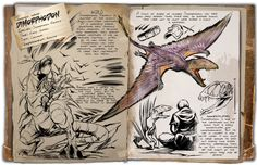 ARK Survival Evolved: New dino dossier - the Dimorphodon! (Fixed link) Fantasy Creatures, Mythical Creatures, Game Ark Survival Evolved, Real Madrid, Dino Park, Survival Books, Survival Guide, Survival Gear, The Good Dinosaur