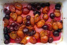 Lemon Yogurt Cake with Apricot-Cherry Compote Recipe with sugar, plain ...