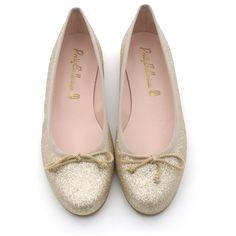 Pretty Ballerinas glimmer guld