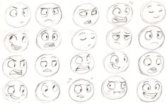 Drawing tips, drawing techniques, cartoon expression, drawing ex Drawing Techniques, Drawing Tutorials, Drawing Tips, Art Tutorials, Cartoon Faces, Cartoon Drawings, Face Drawings, Funny Faces, Character Drawing