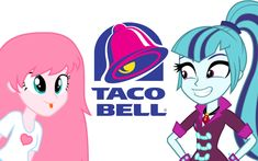 """equestria girls,fluffle puff,sonata dusk. Lol """"can we get lunch after? It's taco tuesday!*-sonata"""