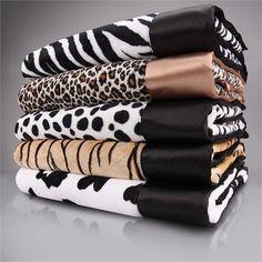 Animal Print Baby Blanket - Multiple Colors