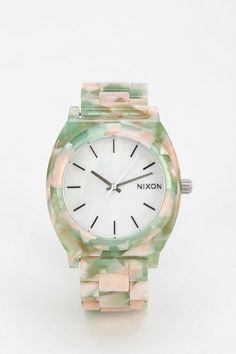 Nixon The Time Teller Watercolor Watch.. This is just like mine, except mine is tortoise.. Maybe I can start a collection !