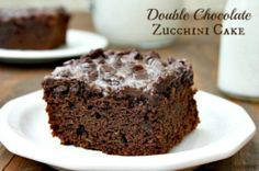Double Chocolate Zucchini Cake. Just made this to help take care of some of my zucchini fresh from the garden. Delicious!!!