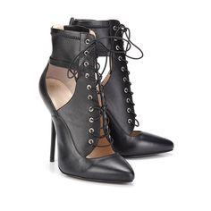 1473 GAGA siyah deri şıklığı #bootie #moda #shoes