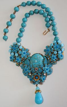 Ian St. Gielar Stanley Hagler Heavy Turquoise Necklace..