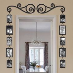 Love this idea to showcase a plain wall area or frame a doorway.