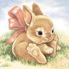 Illustration Inspiration, Cute Animal Illustration, Cute Animal Drawings, Animal Sketches, Cute Drawings, Bunny Painting, Bunny Drawing, Bunny Art, Cute Bunny