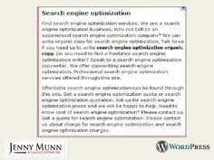 SLIDES: SEO & WordPress: Do this, not that for the small business owner or solopreneur, by Jenny Munn
