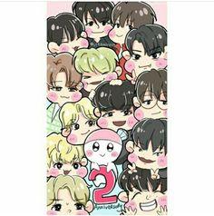 Selfie! seventeen with bongbong ♥♥ fanart