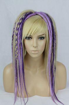 Blonde Lavender & Purple Mixed Dread Falls. 20 by TWODOTSHAIR