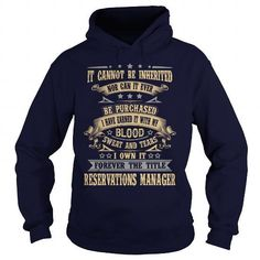 RESERVATIONS-MANAGER T Shirts, Hoodies Sweatshirts. Check price ==► http://store.customtshirts.xyz/go.php?u=https://www.sunfrog.com/LifeStyle/RESERVATIONS-MANAGER-Navy-Blue-Hoodie.html?41382