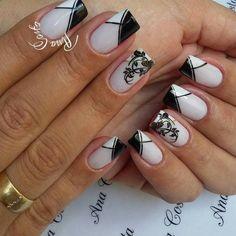 Trendy Fails Design Tips Unique Great Nails, Love Nails, Fun Nails, Nails 2018, Nail Art Stickers, Beautiful Nail Designs, Mani Pedi, Nail Inspo, White Nails