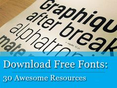 #Download #Free #Fonts: 30 Awesome Resources http://www.webdesign.org/download-free-fonts-30-awesome-resources.22319.html