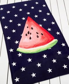 Martha Stewart Collection Summer Picnic Watermelon Beach Towel