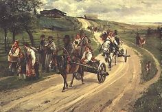 Illarion Pryanishnikov (Russian, 1840-1894) - 1883, 'The Return from the Fair' (State Russian Museum, St. Petersburg, Russia)