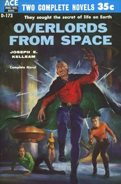 Overlords from Space (1956), cover by Ed Valigursky