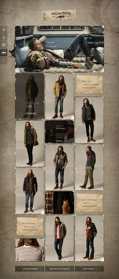 rustic look, great for a fashion or feature artist article