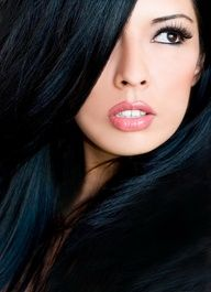 one day I will go back to blue black hair, hair looks healthy Hair Color For Black Hair, Dark Hair, Blue Hair, Hair Colour, Portrait Girl, Regard Intense, White Lips, Pink Lips, Red Lips
